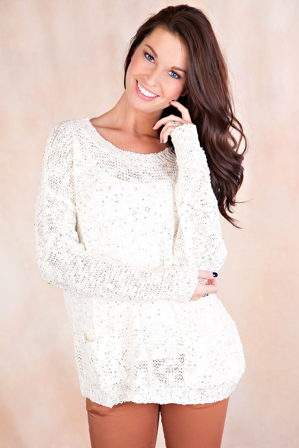 My Day In Front Of The Camera: Sparkle My Day Sweater-White