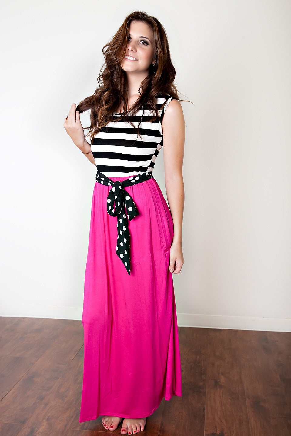 3f72f6e1fcb The Day Perfected Maxi Dress-Hot Pink