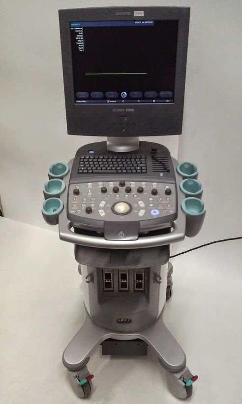 Used Siemens Acuson X300 Ultrasound with Convex Transducer