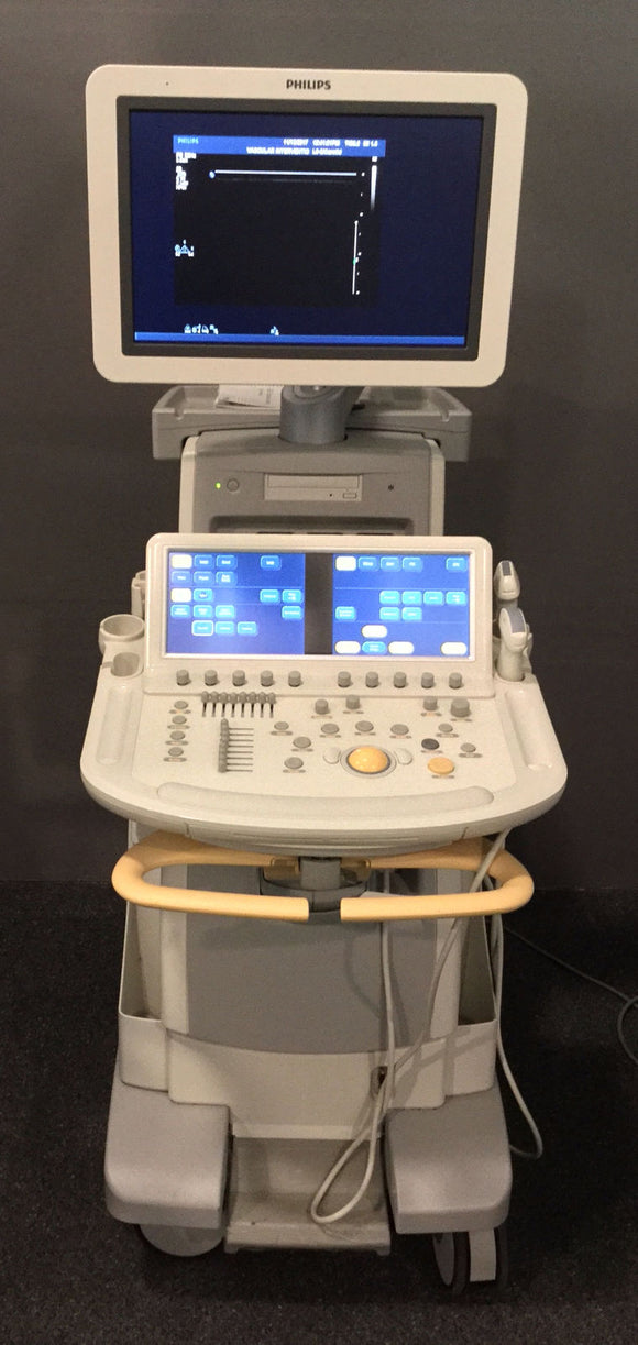 Philips IE33 G.1 Cart Ultrasound System with C5-1, L9-3 Man. Date 2013