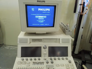 Philips SONOS 7500 ULTRASOUND UNIT as pictured working  with probe