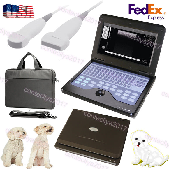 Veterinary Laptop Ultrasound Scanner Machine VET Micro Convex+Linear Probe,US    658126921220