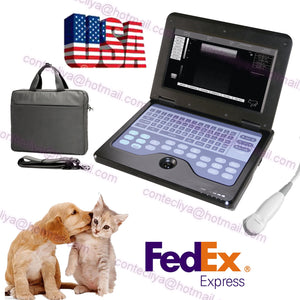 Veterinary Laptop Ultrasound Scanner Machine For Dog/Cat/Animal,3.5 Micro Convex 658126923446
