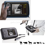 Veterinary Digital Palm Ultrasound Scanner Animal Rectal Probe +cover Case Dogs