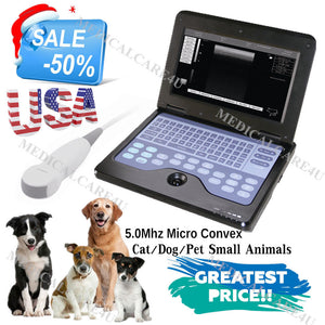 USA 2018 Newest Veterinary Ultrasound Scanner Micro Convex VET Laptop Machine CE 658126923446