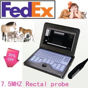Veterinary VET portable Ultrasound Scanner Machine For Animals,Rectal 7.5M Probe 658126921220