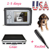 USA Veterinary Digital Portable PalmSmart Ultrasonic Scanner with Rectal Probe 190891777416