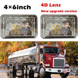 "4x6"" 45W LED Headlight Bulb Sealed Beam 4D Lens For FREIGHTLINER FLD 120 112 611553550777"