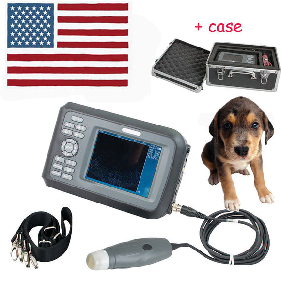 US Vet Veterinary Ultrasound Scanner handscan 3.5MHz probe For Farm Animals Case 190891875587