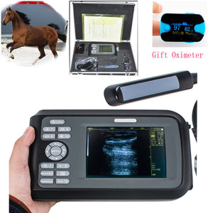 USA! Veterinary Ultrasound Scanner Machine Animal Rectal Probe + Oximeter Horses 190891057464