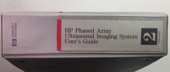 HP Phased Array Ultrasound System User's Guide Vol 2 P/N 77021-91540