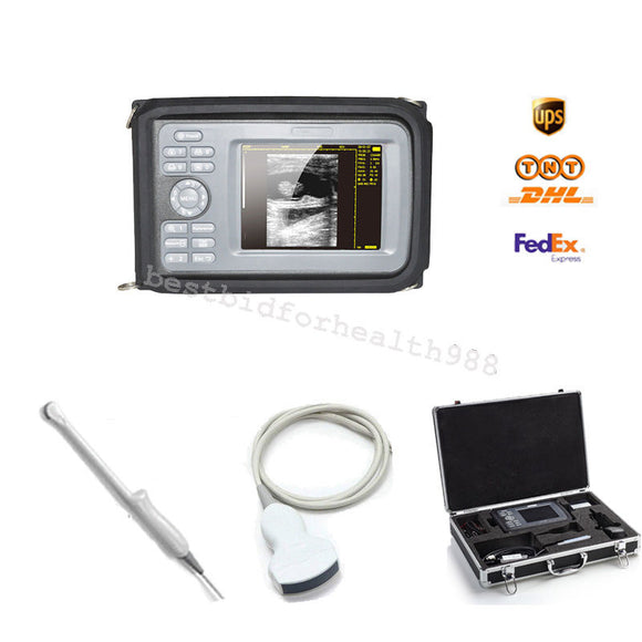 Color LCD Palmtop 5.5 Inch Ultrasound Scanner + Convex & Transvaginal 2 Probes