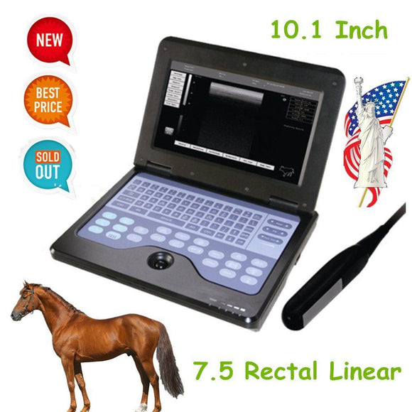 Portable Veterinary Ultrasound Scanner Laptop Machine For Equine/Cow,7.5M Rectal 658126923446