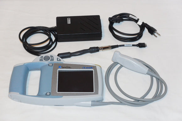Ultrasound Sonosite iLook 25 with Linear Probe Power adapter and Battery