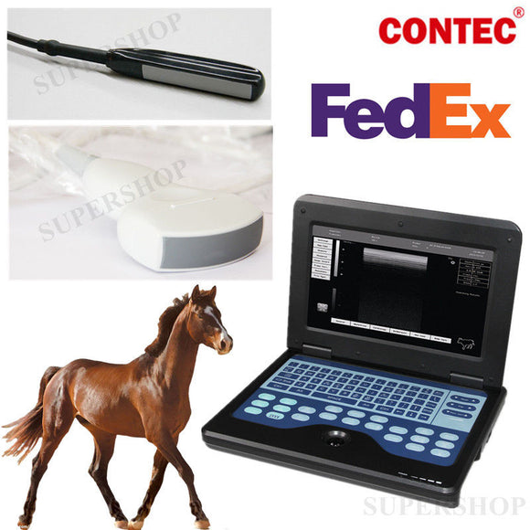 rectal+convex animal Probe Veterinary portable B-Ultrasound Scanner diagnostic 658126646604