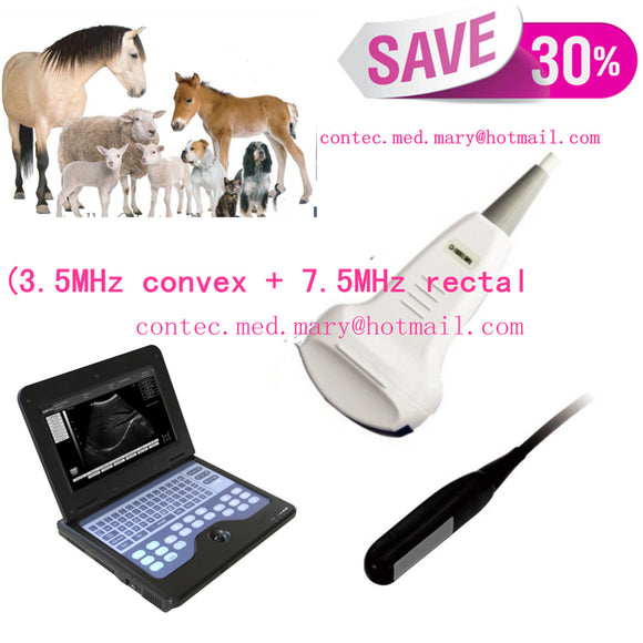 Veterinary Digital Ultrasound Scanner +(3.5M convex+7.5M rectal probe) CMS600P2
