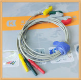 Din Style Safety ECG Leadwires ,Cable 3 Leads,Grabber,IEC 0.6m