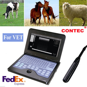 US Seller CE Veterinary Laptop Machine Ultrasound scanner Vet 7.5M Rectal Probe 658126923446