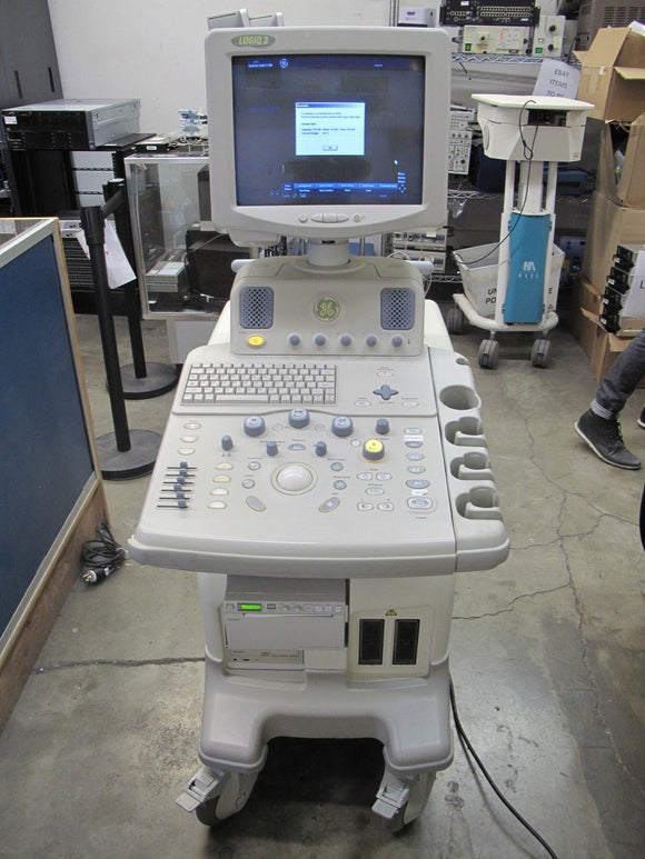 G.E. LOGIQ 3 Ultrasound System w/ Sony UP-D897 Printer No Transducers As-Is