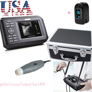 Veterinary VET Ultrasound Scanner Machine Animal Probe Livestock Farm + Oximeter 190891041098