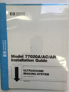 HP 77020A/AC/AR Ultrasound Imaging System Installation Guide 77020-91975