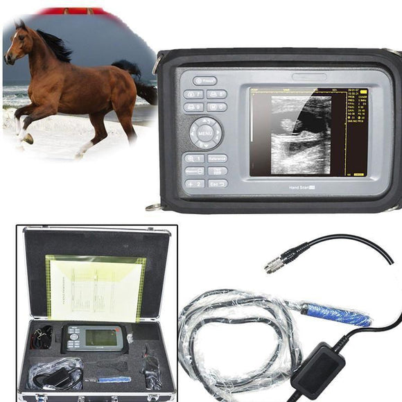 Veterinary ultrasound scanner Big Animals rectal probe Farm Cows Battery + Case 190891282965