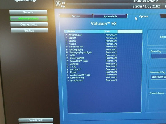 GE VOLUSON E8 BT13 - 3D/4D Imaging – Refurbished by GE 2016 with 5 demo Probes