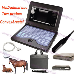 VET Veterinary Laptop Ultrasound Scanner Machine Rectal&Convex horse/equine/cow 658126923446