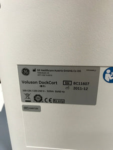 GE Voluson Ultrasound Cart