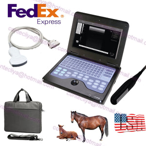 VET Veterinary Ultrasound Scanner For Equine/cows/sheep,Rectal +Convex probe,USA 756040906177