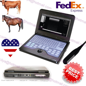 Veterinary Laptop Ultrasound Scanner Machine Animal 7.5 Rectal Probe,Cow/Horse 658126923446