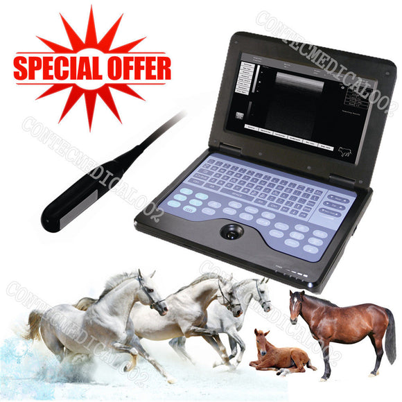 Veterinary Ultrasound Scanner Laptop Machine 7.5M Rectal For cow/horse/Animal,US 658126921220
