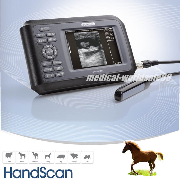 Portable Veterinary Digital Ultrasound Scanner Machine Animal Rectal Probe sale