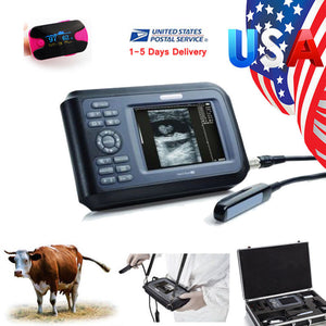 Veterinary Ultrasound Scanner 5.5 inch Machine Unit Rectal Transducer Aminal 190891589125