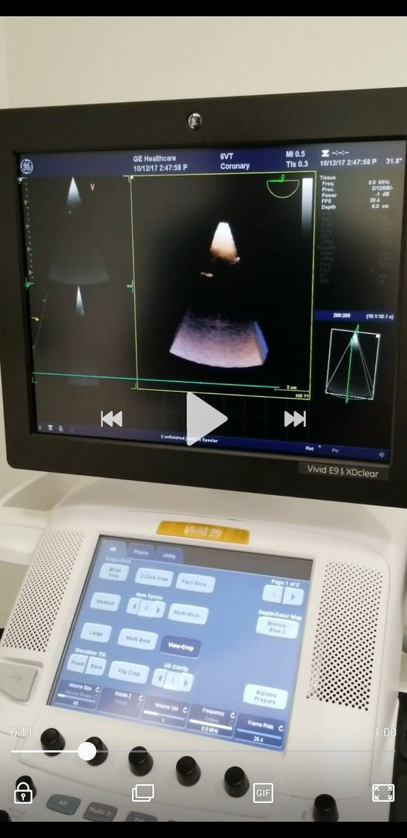 GE 6VT-D Ultrasound Probe / Transducer Demo Condition