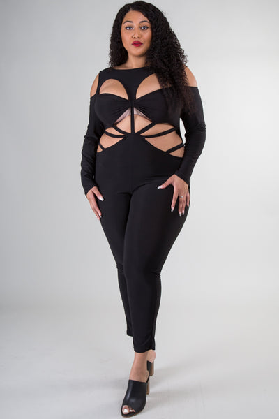 Plus Size Ripped Sexy Jumpsuit