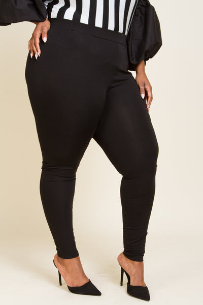 Plus Size Sexy Solid Leggings