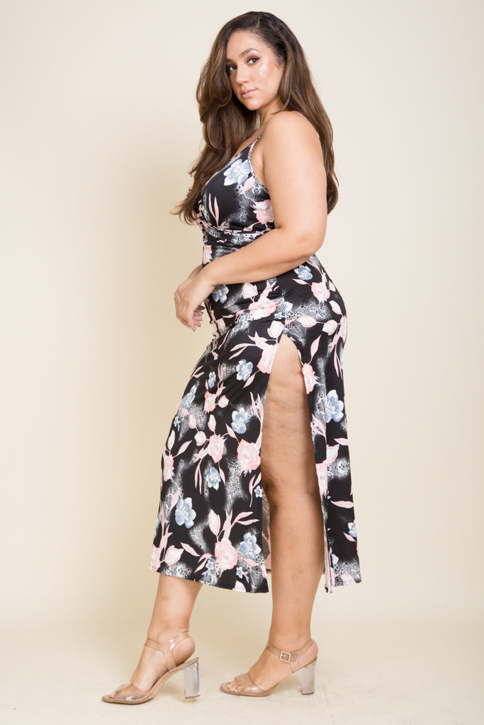 Plus Size Long Spaghetti Dress