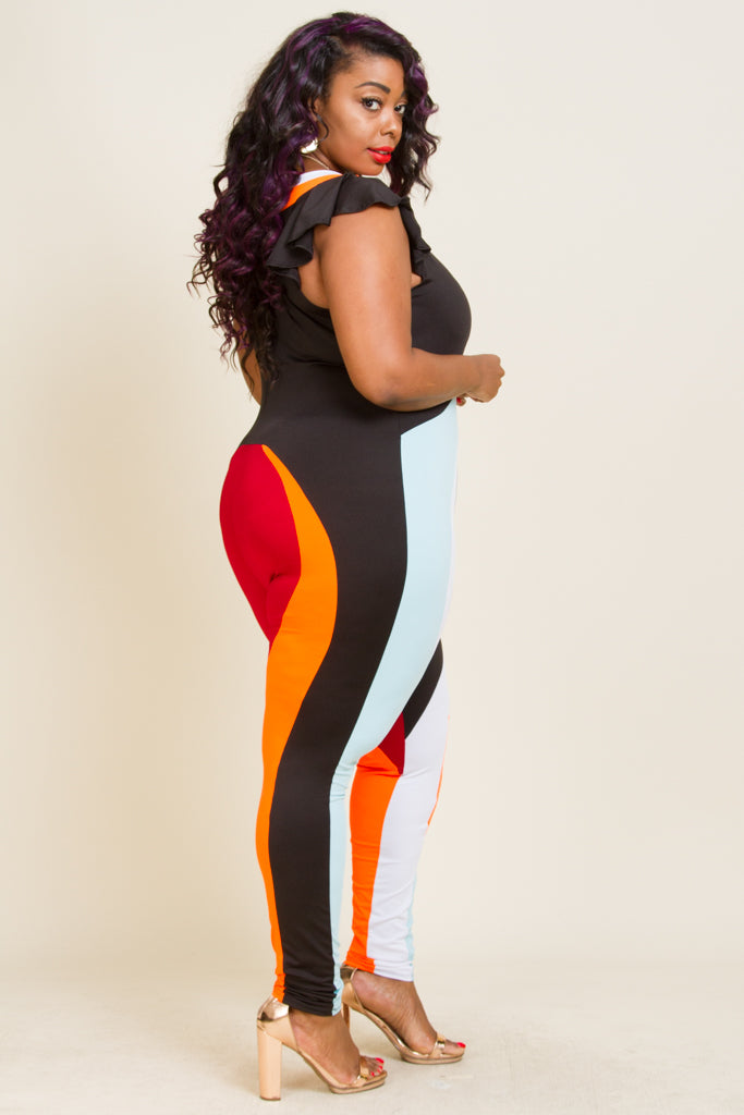 **FINAL SALE** Plus Size Short Sleeve Jumpsuits