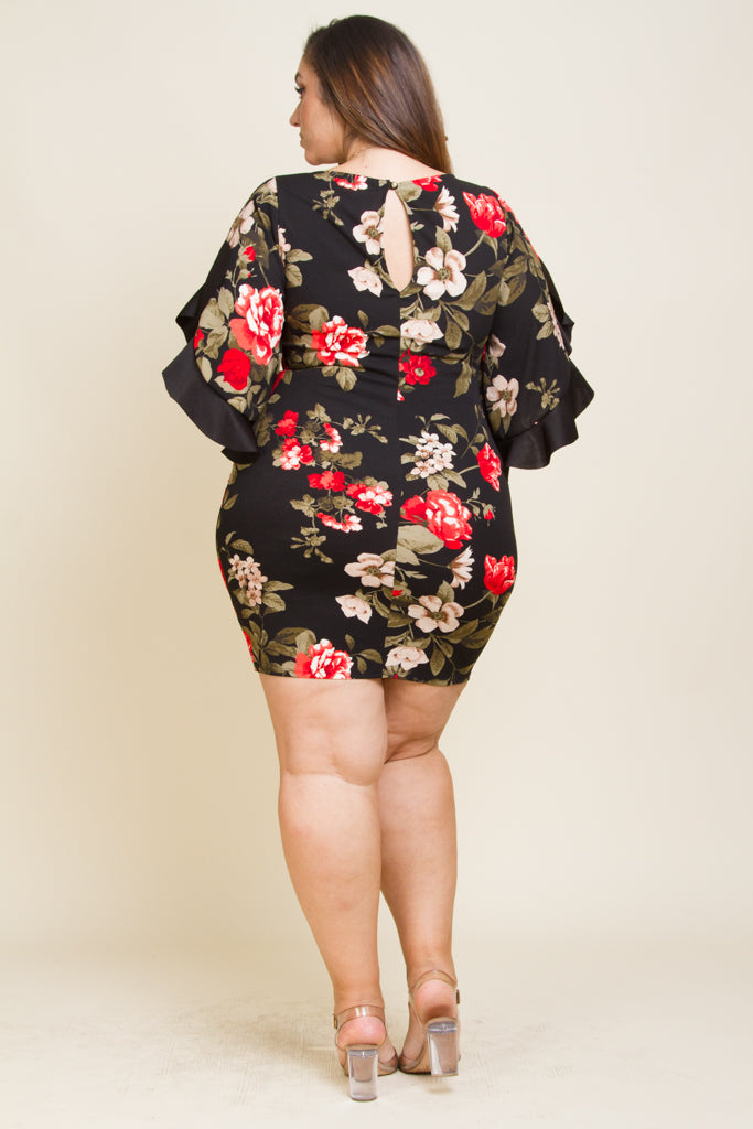 **FINAL SALE** Plus Size Floral Dress