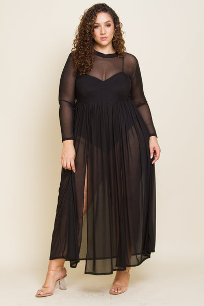 Plus size inside jumpsuit and maxi dress set