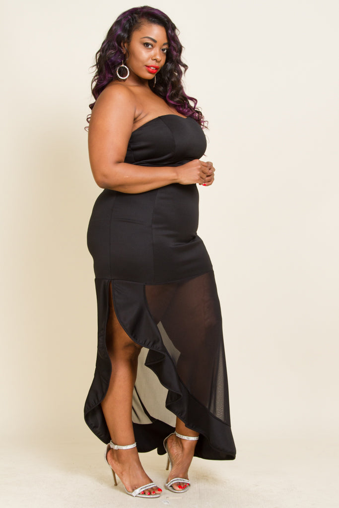 **FINAL SALE** Plus size Cold Shoulder Sexy Maxi Dress