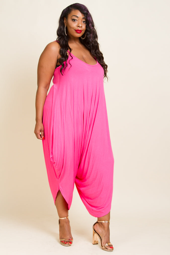 Plus Size Harem Jumpsuit