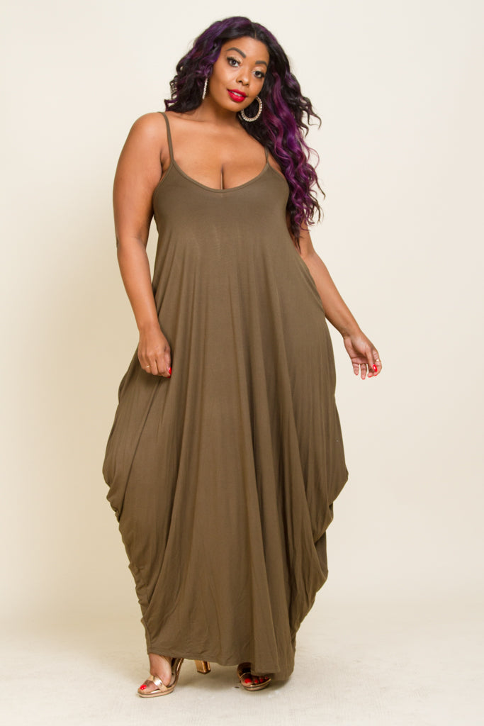 Plus Size Jersey Maxi Dress