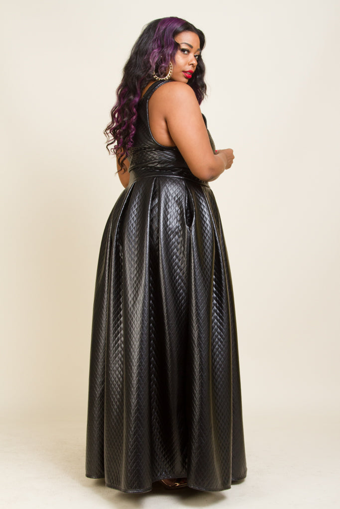 Plus Size Overalls Maxi Dress