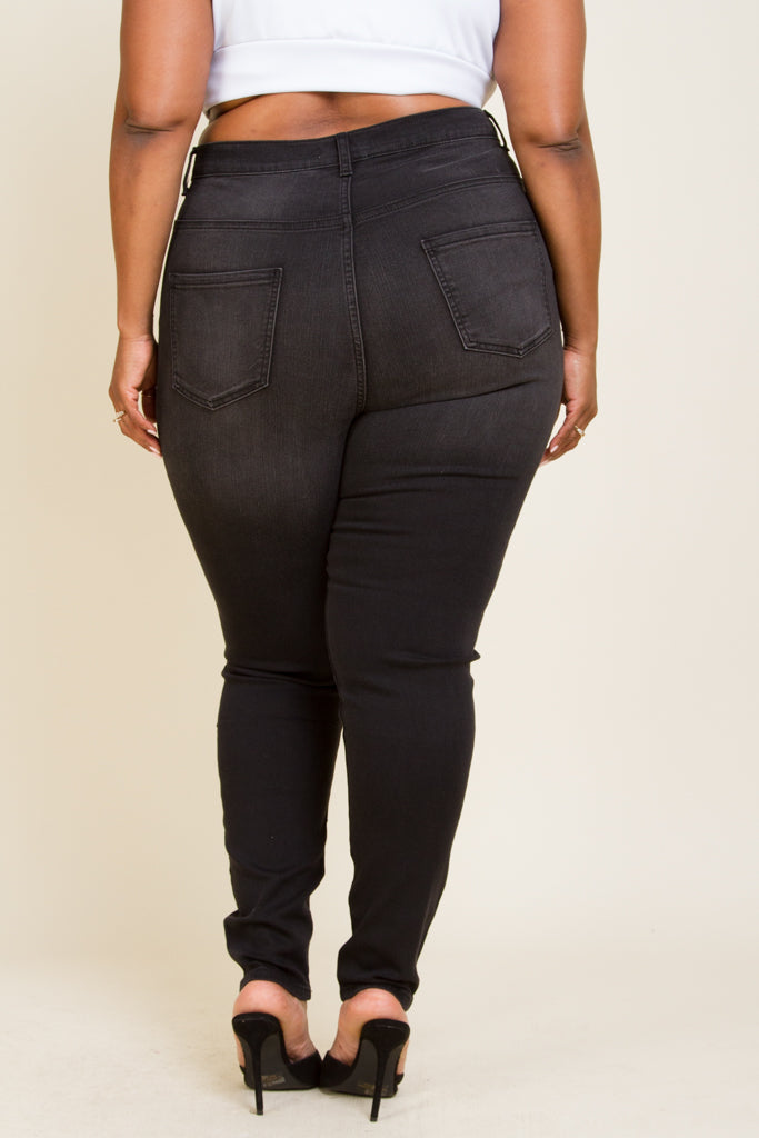 Plus Size Mild Hand Sanding & Whiskers Pants