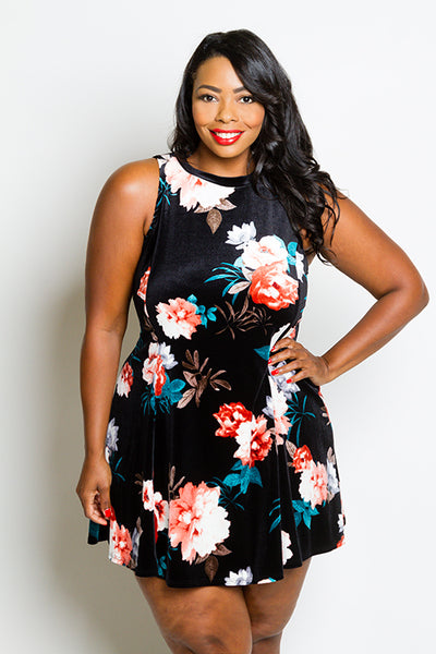 Plus Size Floral Tunic