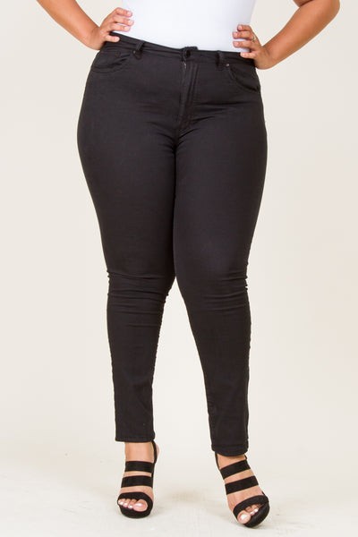Plus Size Skinny Solid Color Pants