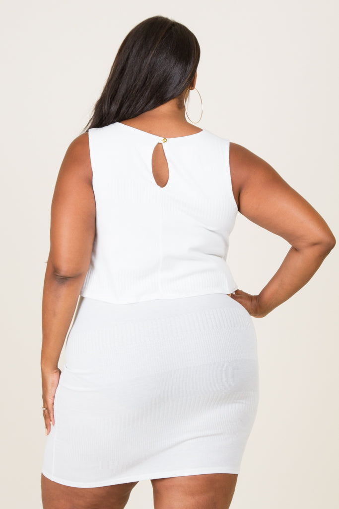 Plus Size Front Overlay Bodycon Dress