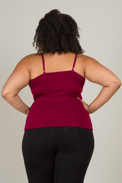 Plus Size Front Twist Tank Top